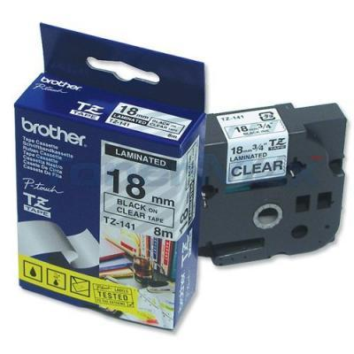 BROTHER P-TOUCH TAPE BLK/CLEAR (3/4 X 26)